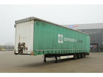 Curtainsider semi-trailer Krone SD 04, LOWDECK, LIFTING AXLE, MULTILOCK