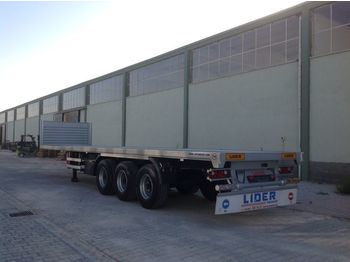 Dropside/ flatbed semi-trailer LIDER 2020 YEAR NEW MODELS containeer flatbes semi TRAILER FOR SALE