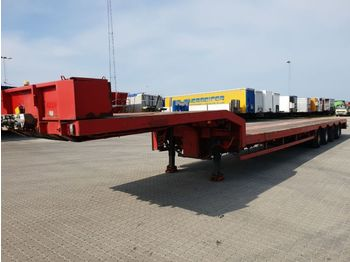 Dropside/ flatbed semi-trailer Nooteboom , 3 x Extendable