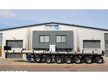 Dropside/ flatbed semi-trailer Nooteboom OVB 95-07 69t Load Capacity, Available For Rent.: picture 1