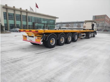 Dropside/ flatbed semi-trailer Nova 4 Axle Flatbed Semi Trailer