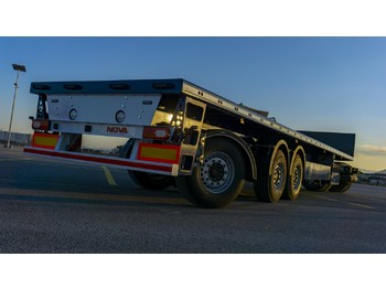 Dropside/ flatbed semi-trailer Nova Mechanic Steering Flatbed Trailer From Factory