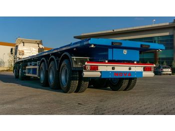 Dropside/ flatbed semi-trailer Nova Platform type semi trailer From Manufacturing Company: picture 1